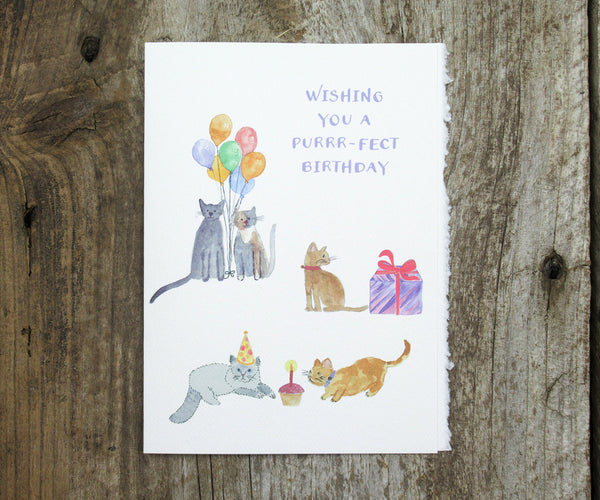 Purrrr-fect Birthday Card