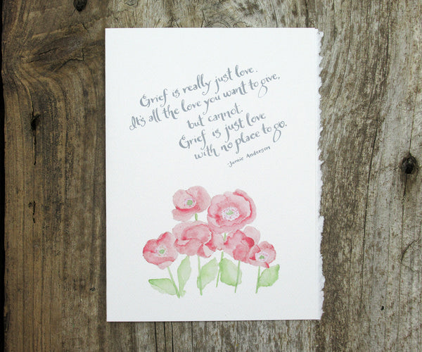 Red Poppies Sympathy Card