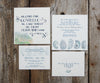 Oyster Shell Wedding Invitation