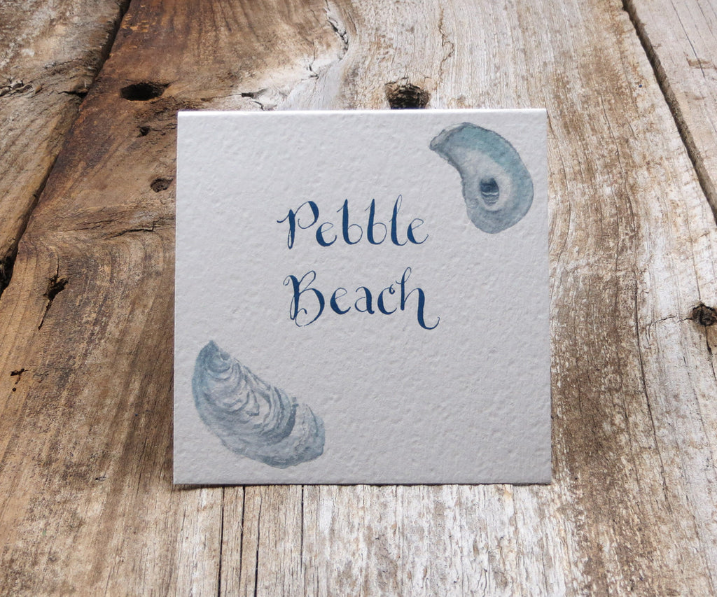 Square Oyster Shell Table Signs