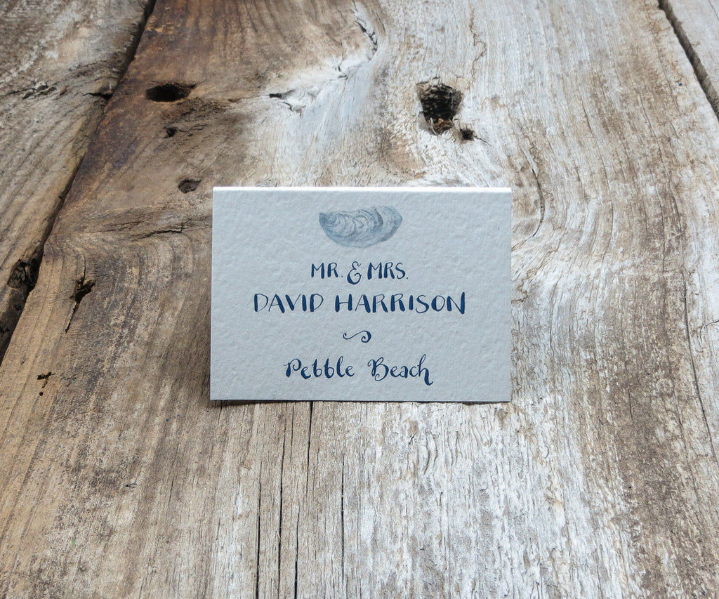 Square Oyster Shell Escort/Place Card