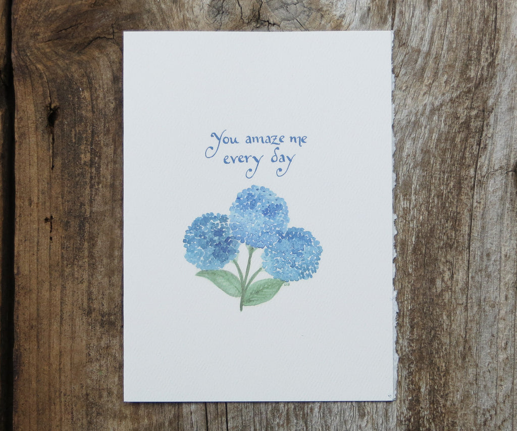 Blue Hydrangea Mother's Day Card