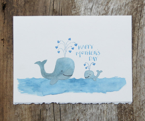 Whales Mother's Day Card