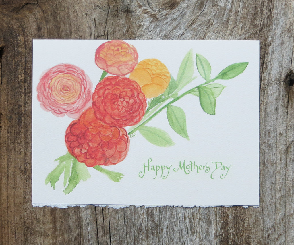 Ranunculus Mother's Day Card