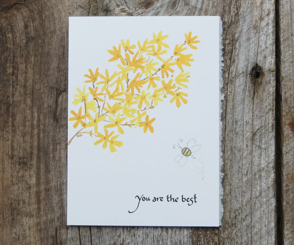 Forsythia Card