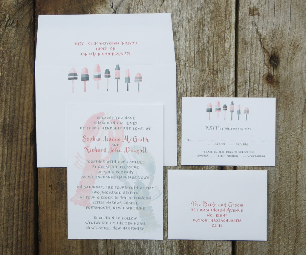 Lobsters Wedding Invitation