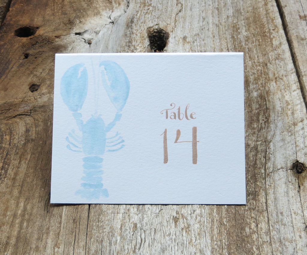 Blue Lobster Table Signs