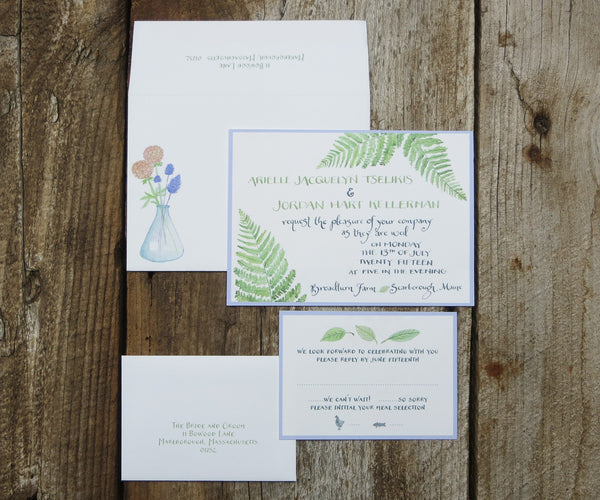 Ferns Wedding Invitation