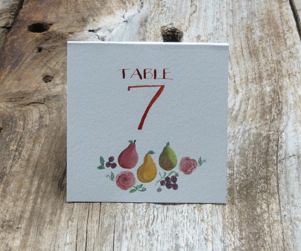 Fruits & Flowers Table Signs