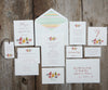 Fruits & Flowers Wedding Thank You Notes