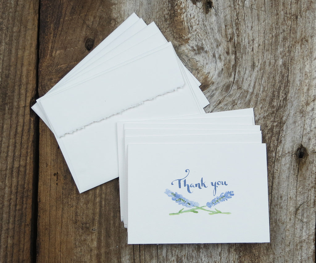 Lavender Thank You Notes