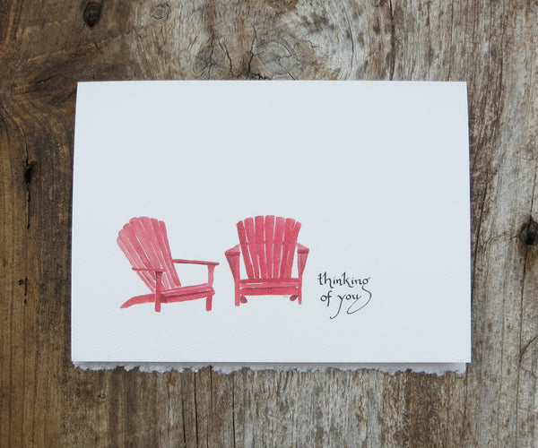 Red Chairs Card