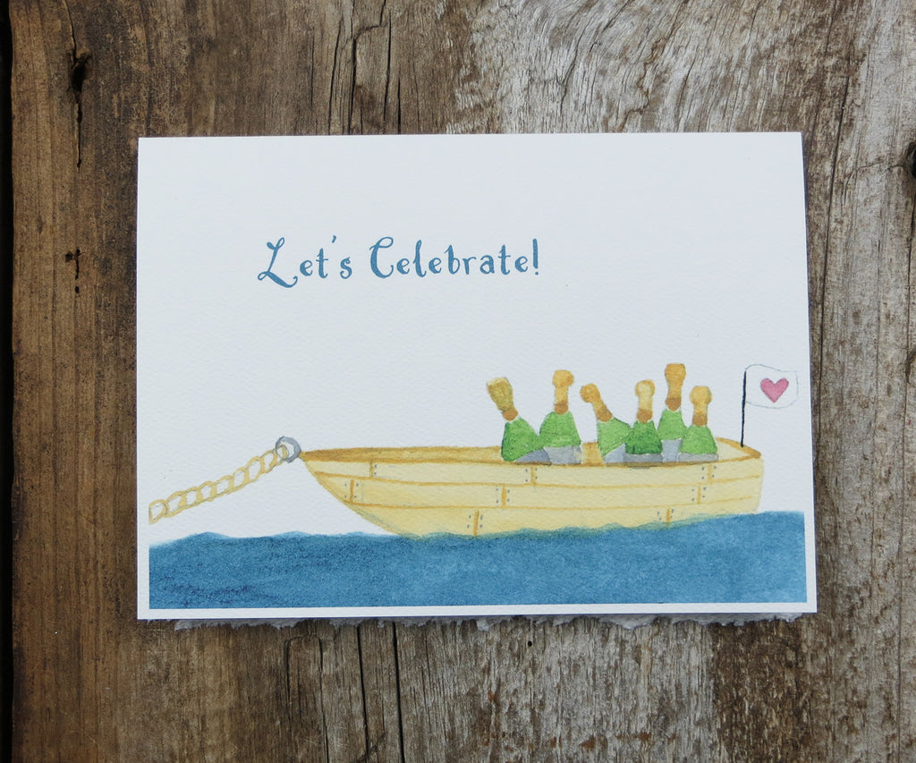Boatload of Champagne Card