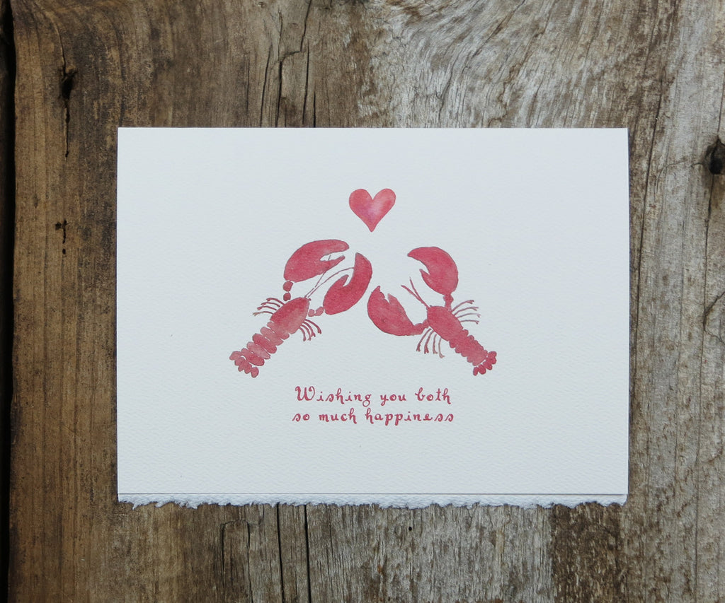 Pair of Lobsters Card