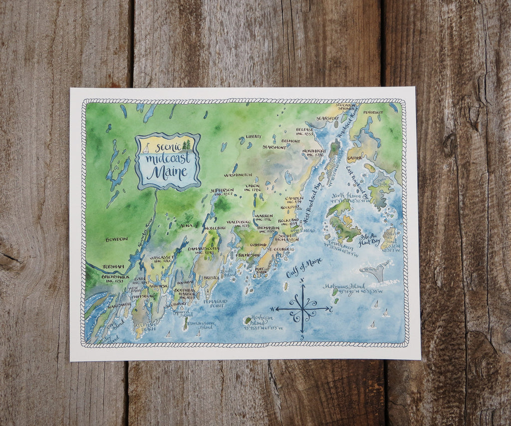Maine Midcoast Map