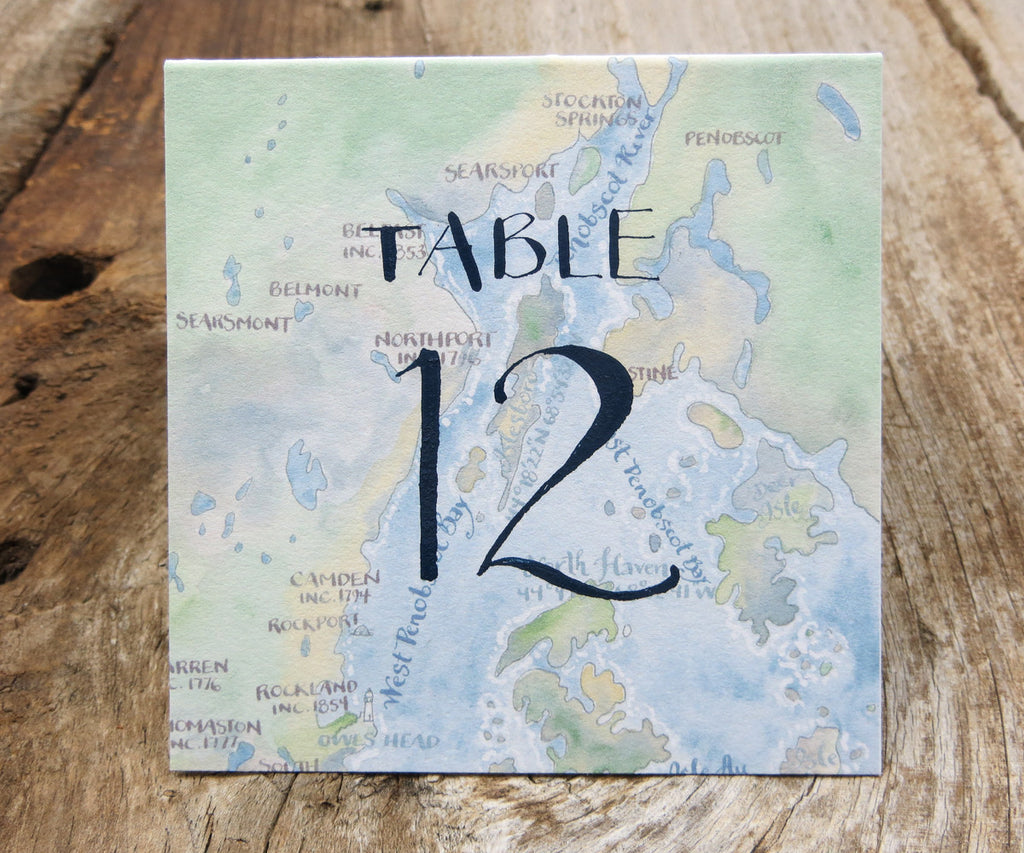 Bay View Table Signs
