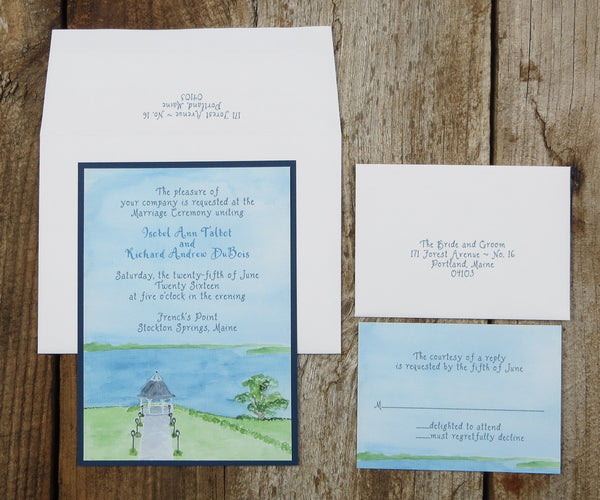 Bay View Wedding Invitation