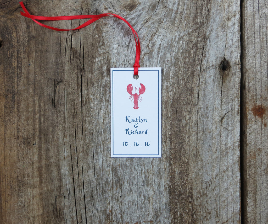 Traditional Lobster Favor Tags