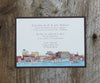 Portland Maine Skyline Wedding Invitation