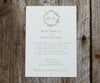 Floral Ring Monogram Wedding Invitation
