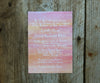 Pink and Orange Ombre Wedding Invitation