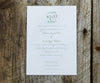 Eucalyptus Monogram Wedding Invitation