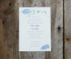 Purple Lilac Wedding Invitation