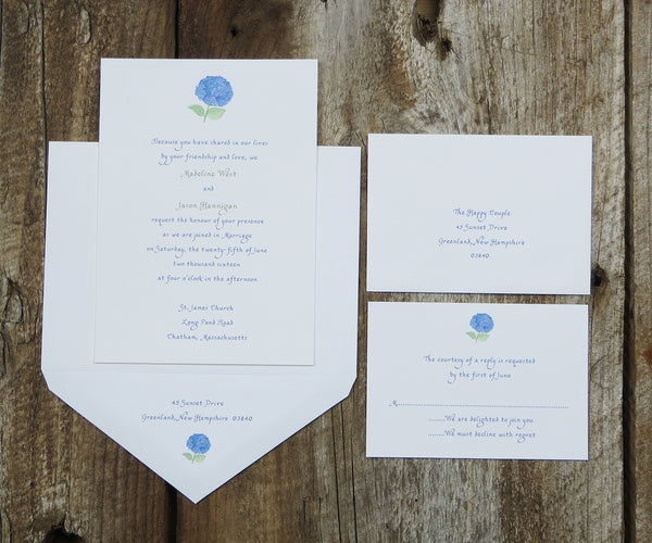 Hydrangea Wedding Invitation