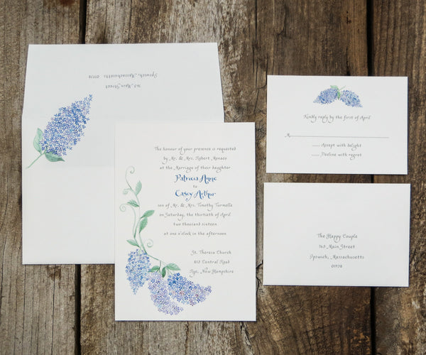 Lilacs Wedding Invitation