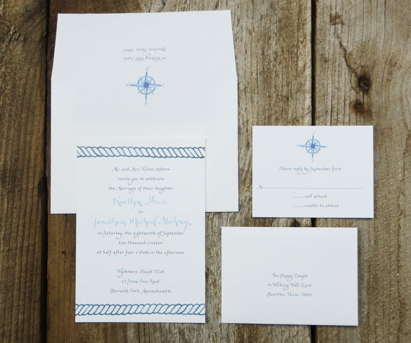 Nautical Rope Wedding Invitation
