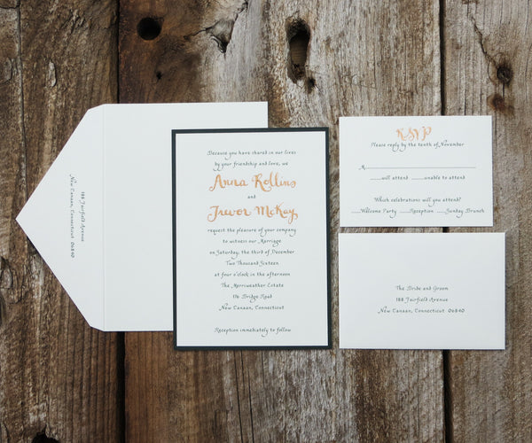 Names in Gold Wedding Invitation