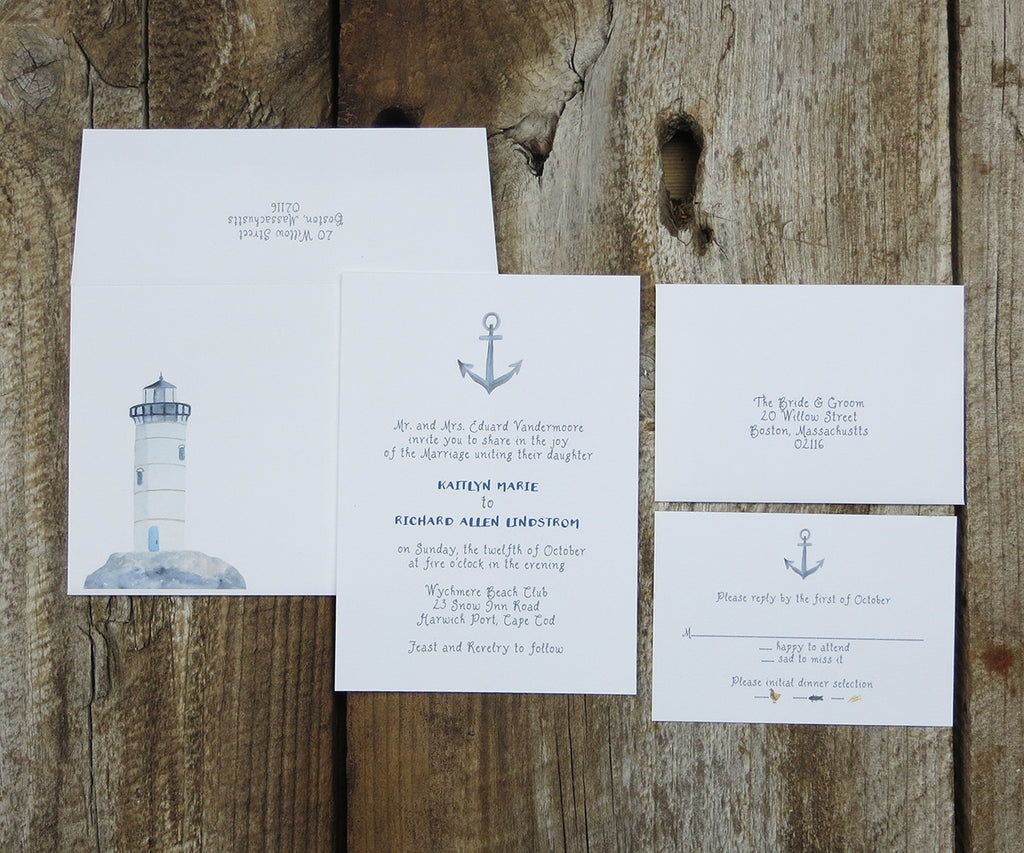 Anchor Wedding Invitation Els Cards
