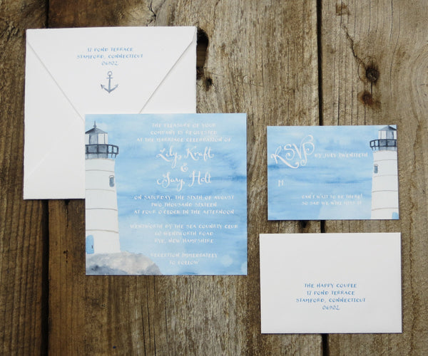 Lighthouse Wedding Invitation