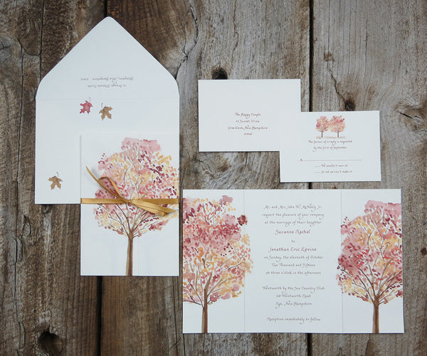 Autumn Trees Wedding Invitation