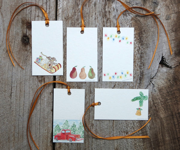 Joy Holiday Gift Tags