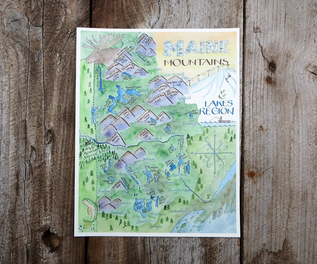 Maine Mountains map