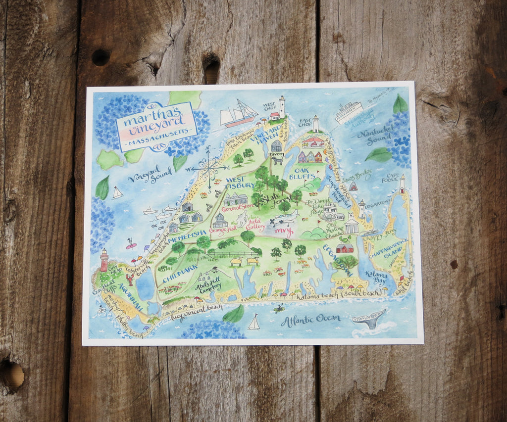 Map of Martha's Vineyard, MA