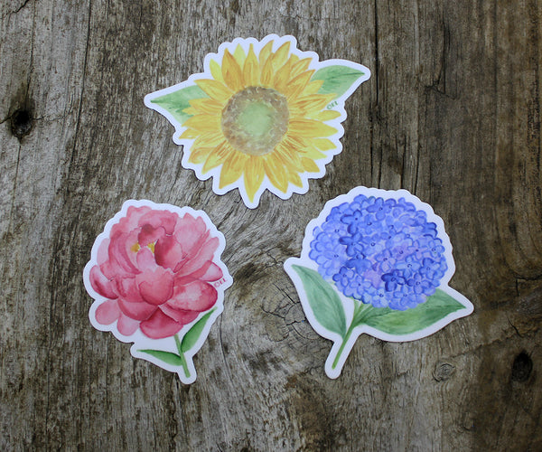 Mixed Flowers Stickers
