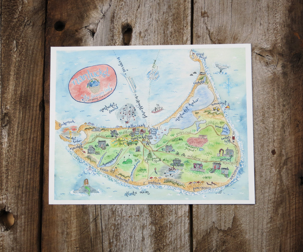 Map of Nantucket, MA