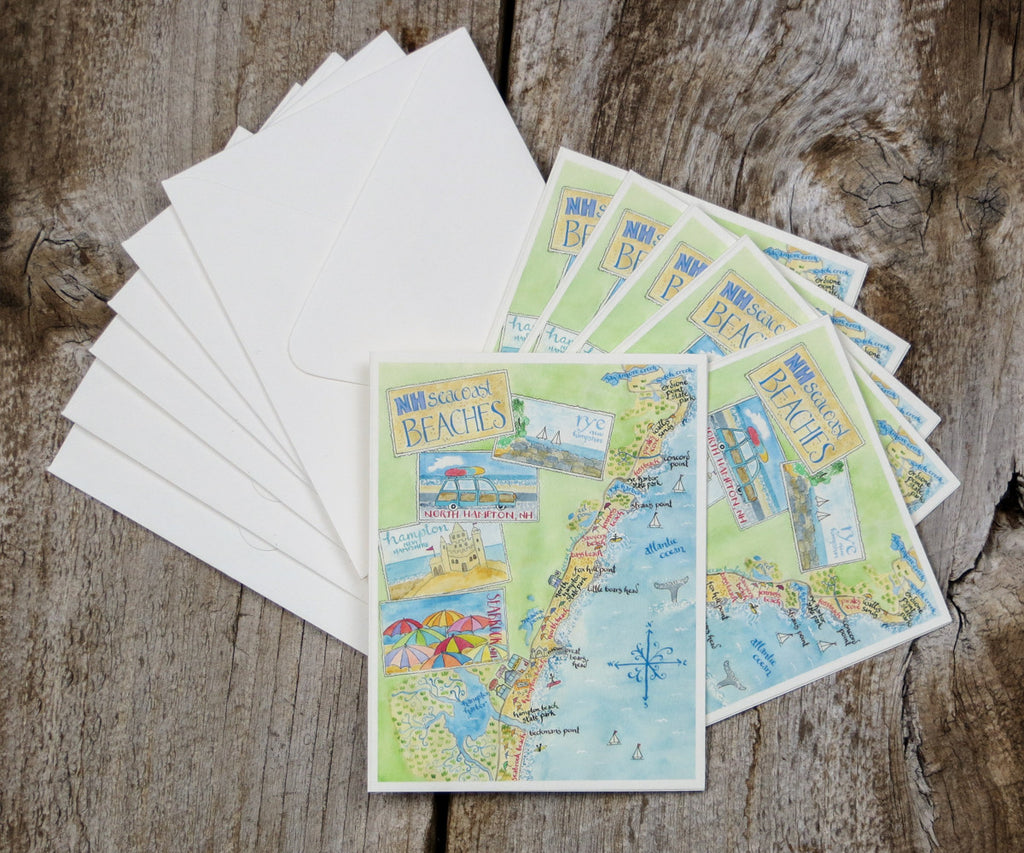 New Hampshire Beaches map note
