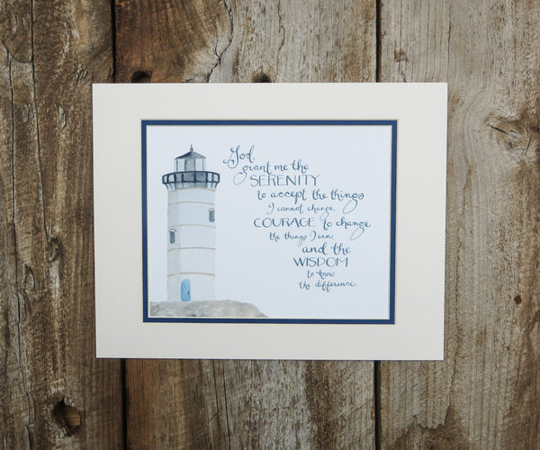 Serenity Lighthouse Print