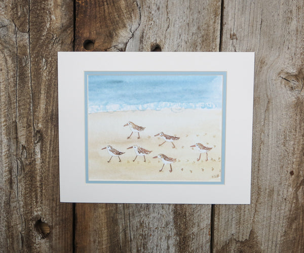 Short Walk on the Beach Print