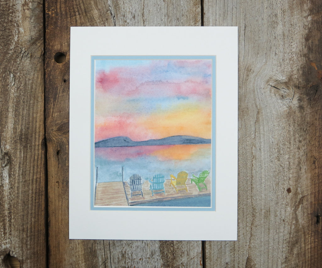 Sunset Lake View Print