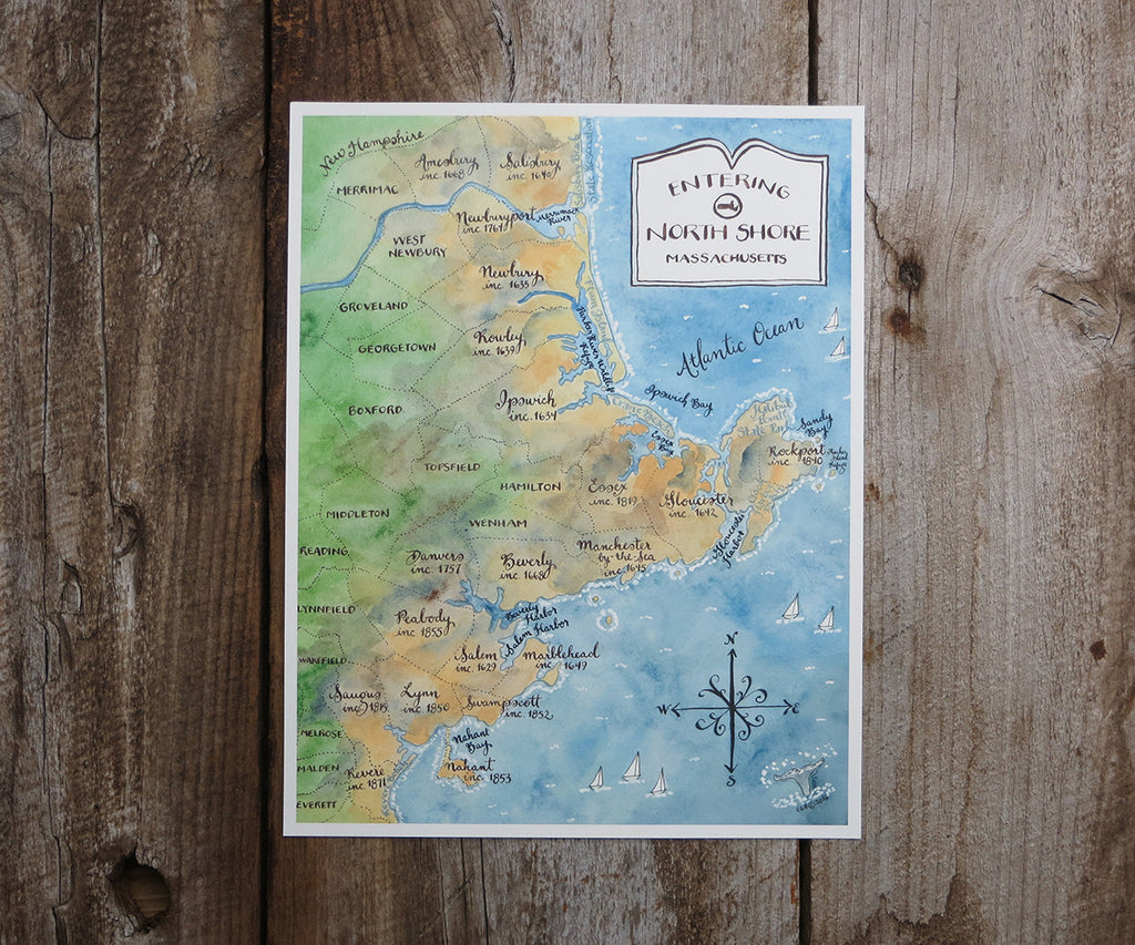 North Shore Massachusetts Map