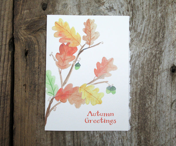 Oak Leaves Thanksgiving Card