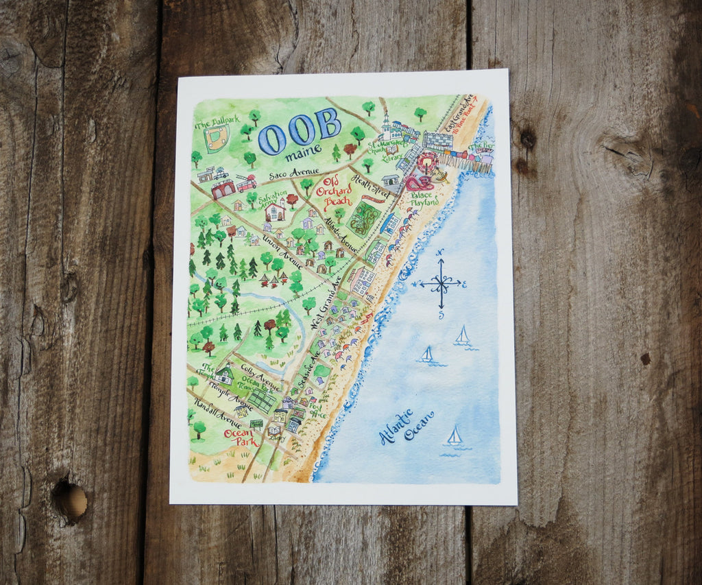Map of Old Orchard Beach, ME