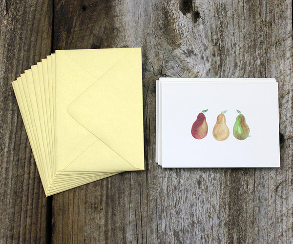 Pear note cards