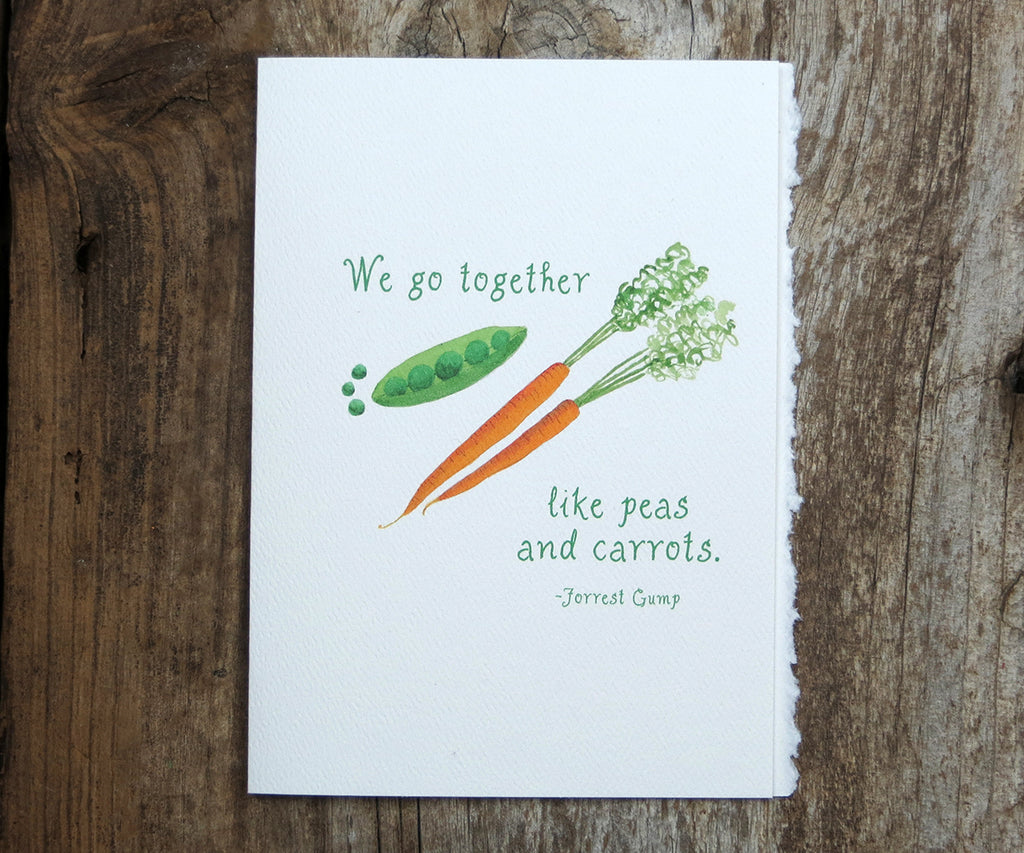 Peas and Carrots Quote Card