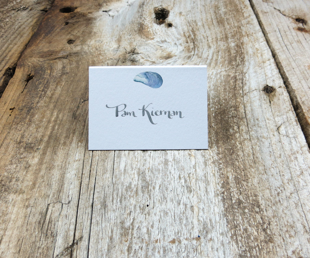 Mussel Shells Escort or Place Card