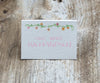 Floral Border Escort/Place Card